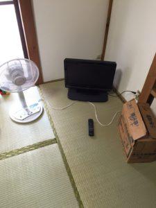 テレビ、扇風機、布団乾燥機
