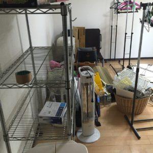 ラック、扇風機、ヒーター,テーブル、椅子etc