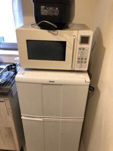 冷蔵庫、電子レンジ、炊飯器