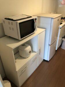 冷蔵庫、テレビ、炊飯器